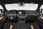 Stock photo of straight dashboard view of 2020 BMW X6-M Competition 5 Door SUV Dashboard