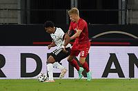 Serge Gnabry (Deutschland Germany) gegen Daniel Waas (Dänemark, Denmark) - Innsbruck 02.06.2021: Deutschland vs. Daenemark, Tivoli Stadion Innsbruck