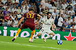 Real Madrid's Marco Asensio and AS Roma's Federico Fazio during Champions League match. September 19, 2018. (ALTERPHOTOS/A. Perez Meca)