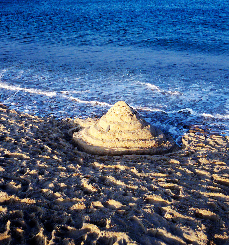 Sandcastle on Nauset Beach, Cape Cod National Seashore, Orleans, MA