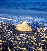 Sandcastle on Nauset Beach, Cape Cod National Seashore, Orleans, MA