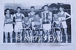 1956 team from the Kerins O'Rahilly's Athletic and Cycling Club with the Quill Cup. In the photo.Front l to r: Dukes Hobbert, Sean Hennessy, Charlie Mansfield, Fr Moss Connell, Billy Griffin, Fr Tom Connell RIP (Captain), Tommy O'Connor and Tom O'Riordan.