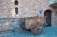 Old cart at Castello di Amorosa. Napa Valley, California. Property relased