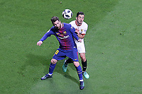 Sevilla FC's Pablo Sarabia (r) and FC Barcelona's Leo Messi during Spanish King's Cup Final match. April 21,2018. (ALTERPHOTOS/Acero)