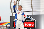 Mario Andretti appears at the driver introductions before the Verizon Indy Car Firestone 600 race at Texas Motor Speedway in Fort Worth,Texas.