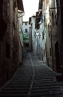 Urbino:  Narrow street.  Photo '83.