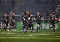 USMN U17 celebrate. Spain defeated the U.S. Under-17 Men National Team  2-1 at Sani Abacha Stadium in Kano, Nigeria on October 26, 2009.