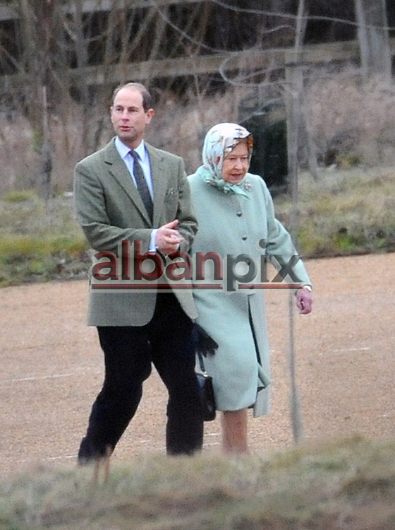 Albanpix.com. Pic by Rob Howarth.The Queen, Princess Anne and Prince Edward arrive at Papworth hospital to see the Duke of Edinburgh on Christmas Exe after his heart operation..