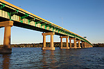 Scenes of the Quad Cities and surrounding rural areas. This photograph is of a span of the I-80 bridge across the Mississippi River in the Quad Cities area.