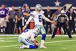 Dallas Cowboys kicker Dan Bailey (5) in action during the pre-season game between the Minnesota Vikings and the Dallas Cowboys at the AT & T stadium in Arlington, Texas. Minnesota defeats the Cowboys 28 to 14.