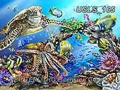 Lori, REALISTIC ANIMALS, REALISTISCHE TIERE, ANIMALES REALISTICOS, zeich, paintings+++++Creatures Of The Sea_2013_L. Schory_72,USLS165,#a#, EVERYDAY ,puzzle,puzzles