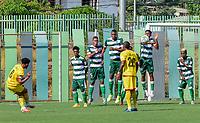 VALLEDUPAR - COLOMBIA, 15-02-2021: Valledupar F.C. y Bogotá F.C. en partido por la fecha 6 del Torneo BetPlay DIMAYOR I 2021 jugado en el estadio Armando Maestre Pavajeau de la ciudad de Valledupar. / Valledupar F.C. and Bogota F.C. in match for the for the date 6 as part of BetPlay DIMAYOR Tournament I 2021 played at Armando Maestre Pavajeau stadium in Valledupar city. Photo: VizzorImage / Adamis Guerra / Cont