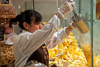 Shop offering fresh potatoe chips, Toledo, Spain