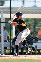 Pittsburgh Pirates outfielder Danny Collins (49) during a minor league spring training game against the New York Yankees on March 22, 2014 at Pirate City in Bradenton, Florida.  (Mike Janes/Four Seam Images)