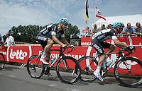 Tom Boonen (BEL/Etixx-QuickStep) behind Gianni Meersman (BEL/Etixx-Quickstep) up the Horenberg<br /> <br /> Belgian Championships 2015
