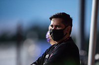LAKE BUENA VISTA, FL - AUGUST 11: Flavio Augusto Da Silva, Chairman and Majority Owner of Orlando City Soccer Club watching before a game between Orlando City SC and Portland Timbers at ESPN Wide World of Sports on August 11, 2020 in Lake Buena Vista, Florida.