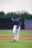 AZL Padres first baseman Jaquez Williams (45) on defense against the AZL Indians at the San Diego Padres Spring Training Complex in Peoria, Arizona. AZL Padres defeated the AZL Indians 7-4. (Zachary Lucy/Four Seam Images)