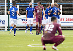Queen of the South v St Johnstone…18.08.18…  Palmerston    BetFred Cup<br />Lyndon Dykes celebrates his goal<br />Picture by Graeme Hart. <br />Copyright Perthshire Picture Agency<br />Tel: 01738 623350  Mobile: 07990 594431