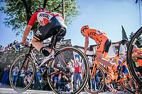 Jasper de Buyst (BEL/Lotto-Soudal) up to the Città Alta in Bergamo<br /> <br /> Stage 15: Valdengo › Bergamo (199km)<br /> 100th Giro d'Italia 2017
