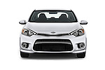 Car photography straight front view of a 2016 KIA Forte-Koup EX 2 Door Coupe Front View