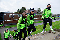 Aldo Kalulu, Yan Dhanda and Rhian Brewster of Swansea City during the Swansea City Training at The Fairwood Training Ground in Swansea, Wales, UK.  Wednesday 08 January 2020
