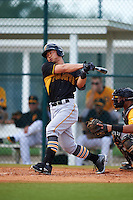 Pittsburgh Pirates Connor Joe (13) during an instructional league intrasquad black and gold game on September 18, 2015 at Pirate City in Bradenton, Florida.  (Mike Janes/Four Seam Images)