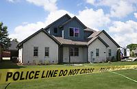The site of a fatal house fire is shown, Thursday, June 3, 2021 at 3211 SW Riverstone Ave. in Bentonville.  Check out nwaonline.com/210604Daily/ for today's photo gallery. <br /> (NWA Democrat-Gazette/Charlie Kaijo)