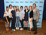 Phoebe Koyabe, Marrick Smith, Ben Levi Ross, Jessica Phillips, Jared Goldsmith, Maggie McKenna, Christiane Noll and Aaron Lazar attends the National Tour Photo Call for 'Dear Evan Hansen' on September 6, 2018 at the New 42nd Street Studios in New York City.