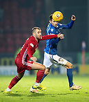 St Johnstone v Aberdeen…..24.11.19   McDiarmid Park   SPFL<br />Scott Tanser and Niall McGinn<br />Picture by Graeme Hart.<br />Copyright Perthshire Picture Agency<br />Tel: 01738 623350  Mobile: 07990 594431