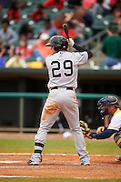 Jackson Generals shortstop Jack Reinheimer (29) at bat during a game against the Montgomery Biscuits on April 29, 2015 at Riverwalk Stadium in Montgomery, Alabama.  Jackson defeated Montgomery 4-3.  (Mike Janes/Four Seam Images)