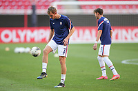 ZAPOPAN, MEXICO - MARCH 21: Henry Kessler #3 of the United States warms up before a game between Dominican Republic and USMNT U-23 at Estadio Akron on March 21, 2021 in Zapopan, Mexico.