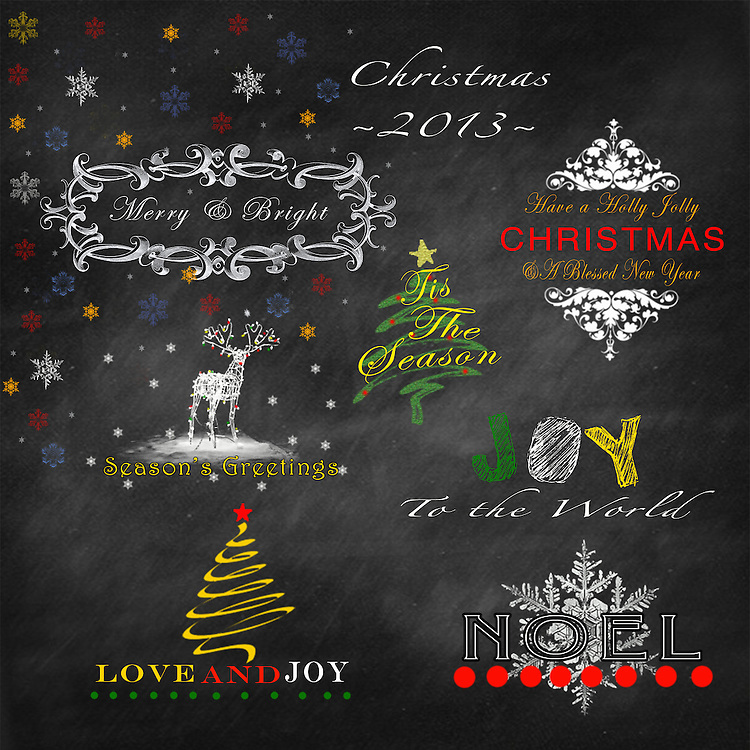 Make your Christmas holidays merry and bright with Tummy Tickles Designs digital overlays.   This collection is perfect for professional photographers looking to add a special touch to their holiday cards and photos.   This set includes 8 overlays at 300dpi that are fully customizable (colors and fonts) and re-sizable, and saved as fully layered PSD files