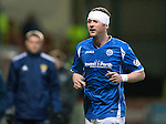 Partick Thistle v St Johnstone…23.02.16   SPFL   Firhill, Glasgow<br />Tam Scobbie bandaged up after a head knock<br />Picture by Graeme Hart.<br />Copyright Perthshire Picture Agency<br />Tel: 01738 623350  Mobile: 07990 594431