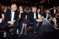Alain TERZIAN - Audrey AZOULAY - George CLOONEY - Amal CLOONEY - Jean DUJARDIN - Nathalie PECHALAT - 42eme ceremonie des CESAR - 24 fevrier 2017 - salle Pleyel - Paris - France