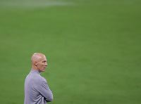 LOS ANGELES, CA - SEPTEMBER 02: Bob Bradley head coach of LAFC during a game between San Jose Earthquakes and Los Angeles FC at Banc of California stadium on September 02, 2020 in Los Angeles, California.