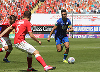 Antonee Robinson of Wigan in action during Charlton Athletic vs Wigan Athletic, Sky Bet EFL Championship Football at The Valley on 18th July 2020