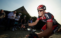 E3 Prijs Harelbeke 2012.Greg Van Avermaet up on the Paterberg