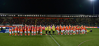 20160302 – DEN HAAG ,  NEDERLAND : team line-ups pictured during the Olympic Qualification Tournament  soccer game between the women teams of Switzerland and The Netherlands, The first game for both teams in the Olympic Qualification Tournament for the Olympic games in Rio de Janeiro - Brasil, Wednesday 2 March 2016 at Kyocera Stadium in The Hague , Netherlands  PHOTO DAVID CATRY