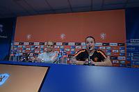 VOETBAL: HEERENVEEN: 02-09-2019, Abe Lenstra Stadion, persconferentie Nederlands vrouwenvoetbalteam, trainer/coach Sarina Wiegman en aanvoerder Sherida Spitse, ©foto Martin de Jong