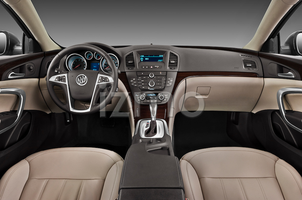 Straight dashboard view of a 2011 Buick Regal CXL Sedan