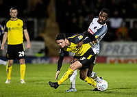 Bolton Wanderers' Joe Dodoo competing with Burton Albion's Joe Powell (left) <br /> <br /> Photographer Andrew Kearns/CameraSport<br /> <br /> The Premier League - Leicester City v Aston Villa - Monday 9th March 2020 - King Power Stadium - Leicester<br /> <br /> World Copyright © 2020 CameraSport. All rights reserved. 43 Linden Ave. Countesthorpe. Leicester. England. LE8 5PG - Tel: +44 (0) 116 277 4147 - admin@camerasport.com - www.camerasport.com