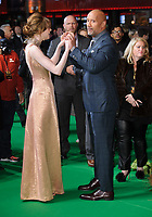 "Karen Gillan and Dwayne Johnson<br /> arriving for the ""Jumanji: Welcome to the Jungle"" premiere at the Vue West End, Leicester Square, London<br /> <br /> <br /> ©Ash Knotek  D3358  07/12/2017"