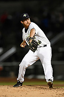 Relief pitcher Trey Cobb (26) of the Columbia Fireflies delivers a pitch in a game against the Augusta GreenJackets on Opening Day, Thursday, April 5, 2018, at Spirit Communications Park in Columbia, South Carolina. Columbia won, 4-2. (Tom Priddy/Four Seam Images)