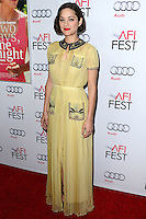 HOLLYWOOD, LOS ANGELES, CA, USA - NOVEMBER 07: Marion Cotillard arrives at the AFI FEST 2014 - 'Two Days, One Night' Special Screening held at the Egyptian Theatre on November 7, 2014 in Hollywood, Los Angeles, California, United States. (Photo by Celebrity Monitor)