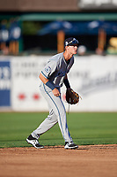 West Michigan Whitecaps shortstop Cam Warner (23) during a game against the Kane County Cougars on July 19, 2018 at Northwestern Medicine Field in Geneva, Illinois.  Kane County defeated West Michigan 8-5.  (Mike Janes/Four Seam Images)