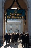 Christkindelmarkt  in  Salzburg, Österreich