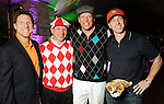"""From left: Kevin Whalen, J.B. Fairbanks, Michael Holthouse and George Diaz at the """"Be the Ball"""" annual benefit holiday bash supporting Glasstire and Fresh Arts Coalition at the Herman Park Golf Course Friday Jan. 22,2010.(Dave Rossman/For the Chronicle)"""