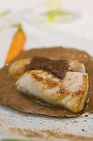 """Europe/France/Bretagne/56/Morbihan/Lorient: Blanc de barbue et  morilles, recette de Jean-Paul Abadie du Restaurant """" L' Amphitryon"""""""