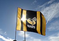 Photo: Richard Lee/Richard Lane Photography. Aviva Premiership. Newcastle Falcons v Wasps. 27/03/2016. Wasps flag.