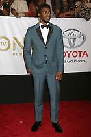 LOS ANGELES - JAN 15:  Chadwick Boseman at the 49th NAACP Image Awards - Arrivals at Pasadena Civic Center on January 15, 2018 in Pasadena, CA